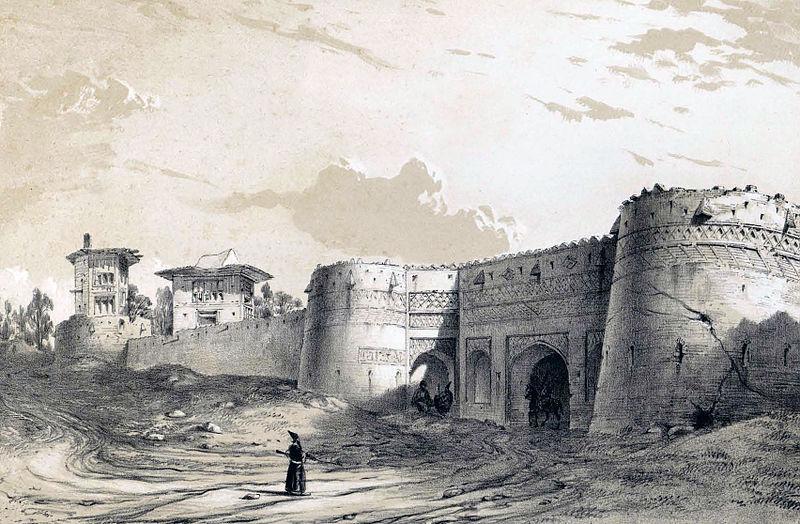 دروازههای ورودی شهر بروجرد اثر اوژن فلاندن