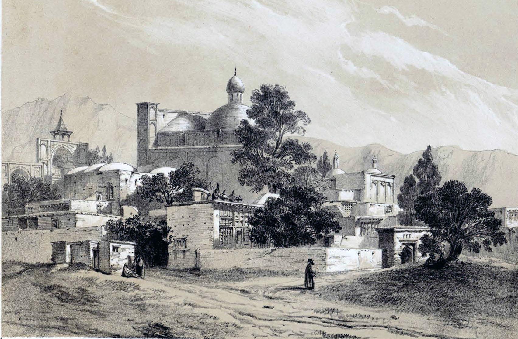 مسجد سلطانی(امام) بروجرد اثر نقاش فرانسوی، اوژن فلاندن